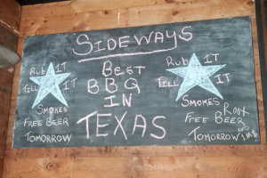 Sideways BBQ decor rustic chalkboard